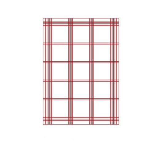 Küchentücher Rot Muster