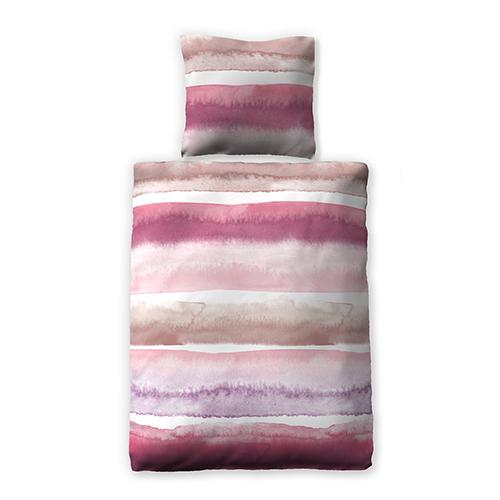 Bettwäsche Rosa Streifen