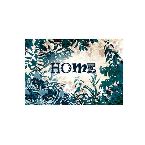 Fußmatte Home Blätter