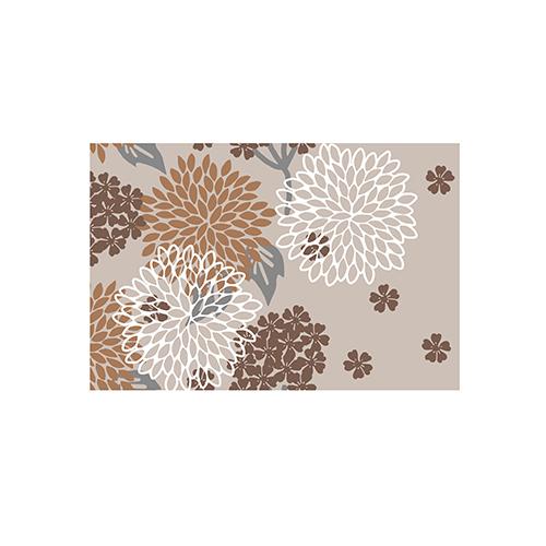 Fußmatte Blumenmuster